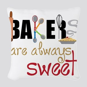 Bakers Are Always Sweet Woven Throw Pillow