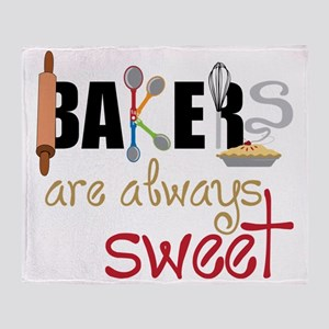 Bakers Are Always Sweet Throw Blanket