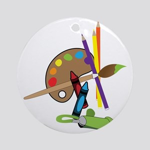 Artist Color Pallet Round Ornament