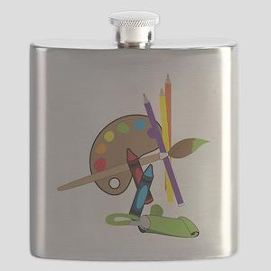 Artist Color Pallet Flask