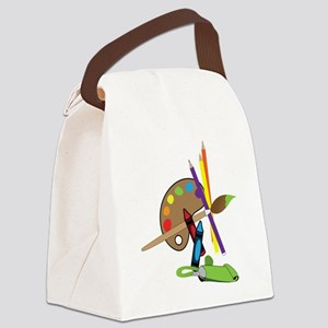 Artist Color Pallet Canvas Lunch Bag