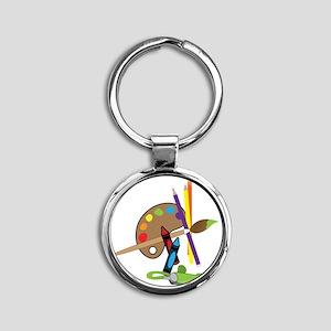 Artist Color Pallet Round Keychain