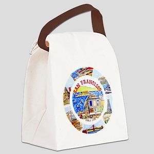 Vintage San Francisco Souvenir Gr Canvas Lunch Bag