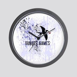 Mockingjay Heart in Flight Wall Clock