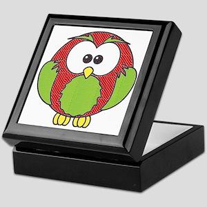 xl xmas owl Keepsake Box