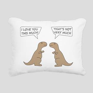 T-Rex Feelings, Hilariou Rectangular Canvas Pillow