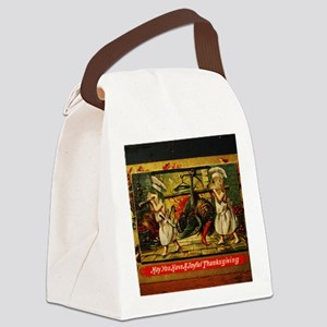 Thanksgiving Doxies 2 Canvas Lunch Bag