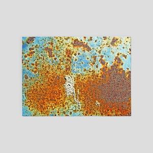 Rust Texture 5'x7'Area Rug