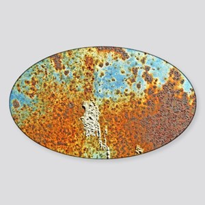 Rust Texture Sticker (Oval)