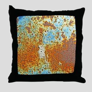 Rust Texture Throw Pillow