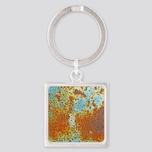 Rust Texture Square Keychain