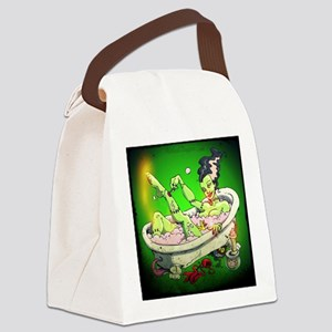 The Bride in The Bath Canvas Lunch Bag