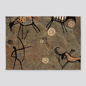 Cave Painting 5'x7'Area Rug