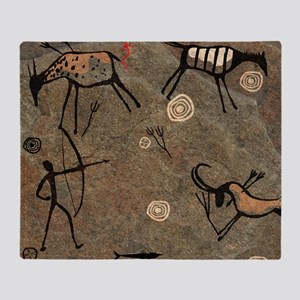 Cave Painting Throw Blanket