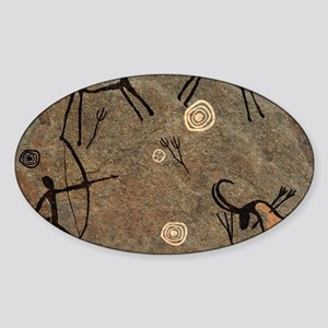 Cave Painting Sticker (Oval)