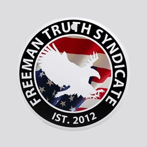 Freeman Truth Syndicate Logo Round Ornament