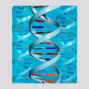 DNA helices Throw Blanket