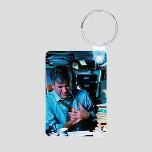 Angina or heart attack Aluminum Photo Keychain