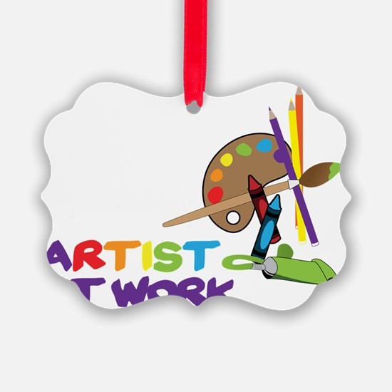 Artist At Work Ornament