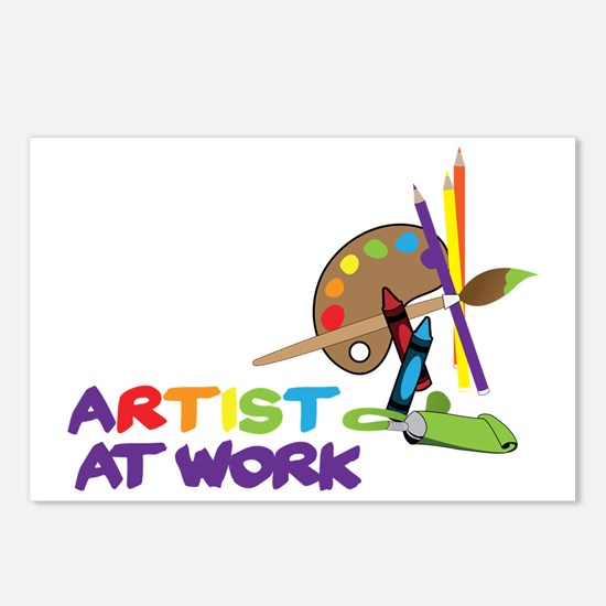 Artist At Work Postcards (Package of 8)