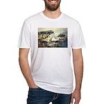 Trellis Bridge by Elsie Batze Fitted T-Shirt