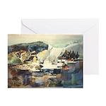 Trellis Bridge by Elsie Batze Greeting Cards (Pack
