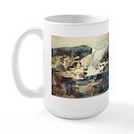 Trellis Bridge by Elsie Batze Large Mug