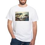 Trellis Bridge by Elsie Batze White T-Shirt