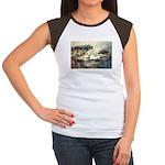 Trellis Bridge by Elsie Batze Women's Cap Sleeve T