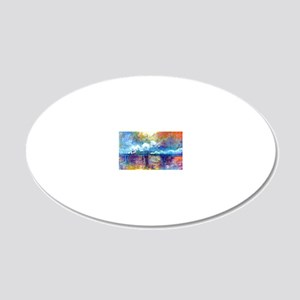 Monet Charing Cross Bridge 20x12 Oval Wall Decal