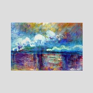 Monet Charing Cross Bridge Rectangle Magnet