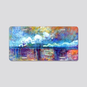Monet Charing Cross Bridge Aluminum License Plate