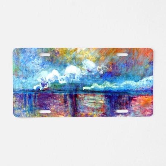 Monet Charing Cross Bridge Aluminum License Plate