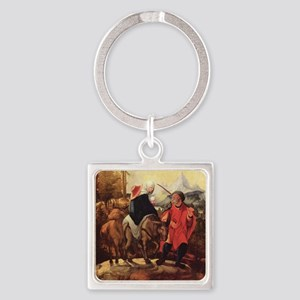 Trip to Bethlehem Square Keychain