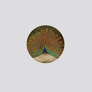 .Vintage Art of a Peacock Mini Button
