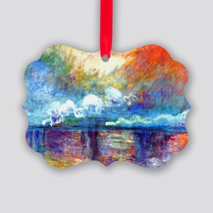 Monet Charing Cross Bridge Picture Ornament
