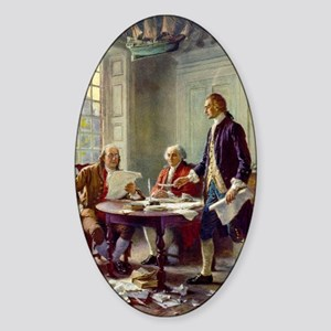 Declaration of Independence 1776 Sticker (Oval)