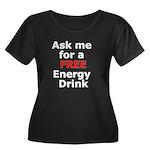 Free Energy Drink Women's Plus Size Scoop Neck Dar