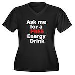 Free Energy Drink Women's Plus Size V-Neck Dark T-