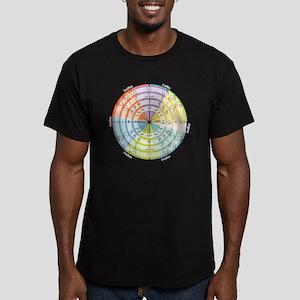mathUnitCircleTheCircl Men's Fitted T-Shirt (dark)