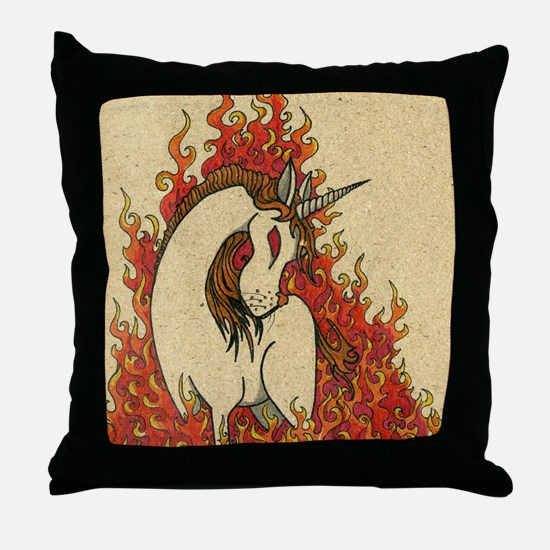 Corn Dog of Fire Throw Pillow