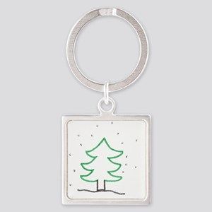 Christmas Tree - ArtinJoy Square Keychain