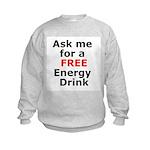 Free Energy Drink Kids Sweatshirt