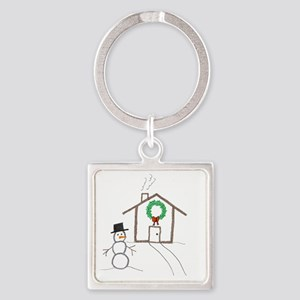 Home for the Holidays-ArtinJoy Square Keychain