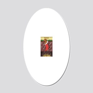 doxstockingredcard 20x12 Oval Wall Decal