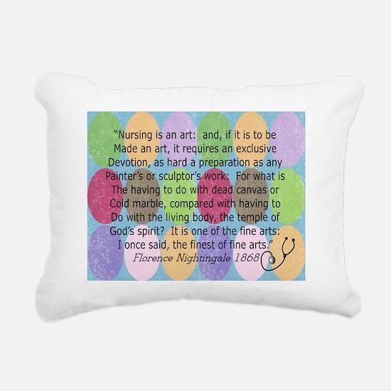 Florence Nightingale Quo Rectangular Canvas Pillow