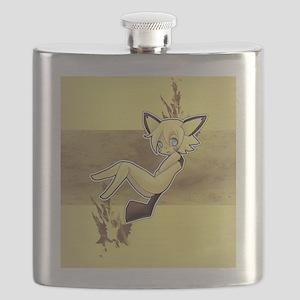 Ginjika Pichu Brown  Yellow Flask