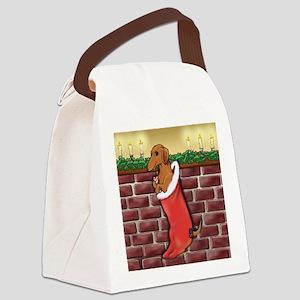 doxstockingredsq Canvas Lunch Bag