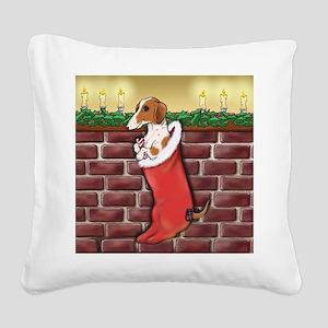doxstockingpiesq Square Canvas Pillow