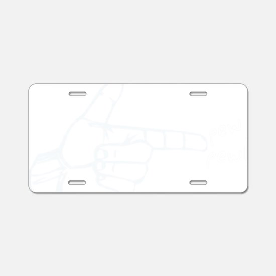 handgun1 Aluminum License Plate